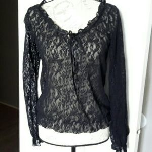 Kenneth Cole Delicate Lace Top